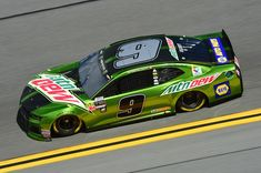 Chase Elliott, driver of the #9 Mountain Dew Chevrolet, practices for the Monster Energy NASCAR Cup Series Advance Auto Parts Clash at Daytona International Speedway on February 10, 2018 in Daytona Beach, Florida.