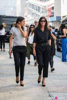 Capucine Safyurtlu and Emmanuelle Alt in NYC ... truly chic ladies