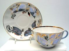 Moonlight Cup and Saucer from the Lomonosov Porcelain Factory