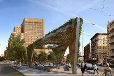 Studio a+i Reimagines AIDS Memorial Park Design as a Fresh Green Triangular Canopy, NYC