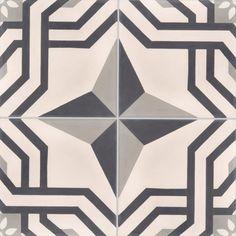 Carreaux de ciment - décors 4 carreaux - Carreau ALMA 01.07.27 - Couleurs & Matières