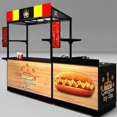 ✔ Hot Dog Carts gerobak jualan gerobak alumunium gerobak portable gerobak lipat gerobak motorgerobak mobil Source by dekorumahme Food Cart Design, Food Truck Design, Coffee Shop Bar, Coffee Carts, Mobile Food Cart, Bike Food, Food Counter, Food Kiosk, Hot Dog Bar