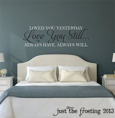 >> Great Love You Nonetheless Grasp Bed room Wall Decal - Vinyl Wall Quote Decals - Wedding ceremony Gif...
