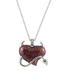 Look what I found on #zulily! Red  & Stainless Steel 'Sexy Devil' Heart Pendant Necklace #zulilyfinds