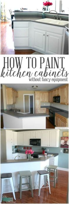 Do your out-dated cabinets need a lift? This in-depth tutorial will walk you through how to transform your old, tired kitchen into a fresh and amazing space on a budget! | TheTurquoiseHome.com