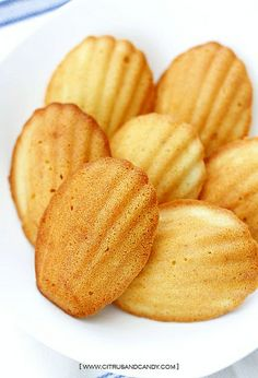 Browned Butter and Coconut Madeleines by Citrus and Candy