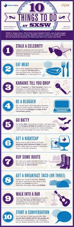 10 Things to do @ SXSW (2012)