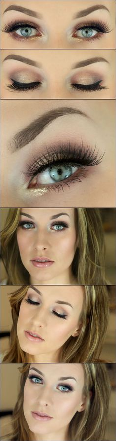 Eye Makeup Tips.Smokey Eye Makeup Tips - For a Catchy and Impressive Look Day Eye Makeup, Skin Makeup, Makeup Eyeshadow, Brown Makeup, Night Makeup, Pretty Makeup, Love Makeup, Makeup Looks, Perfect Makeup