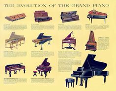 Evolution of the grand piano