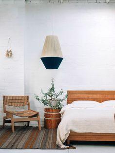 New handmade Dream Weaver lamp shades from Melbourne design team Pop & Scott. Photo by Bobby Clark of Bobby and Tide.