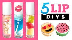 5 EASY and AMAZING Lip DIYs!!! Make Lava Lamp Lip Gloss, DIY Emoji Lip B...