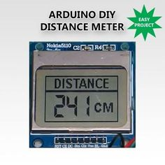 Diy distance meter with arduino and a nokia 5110 display home automation with arduino buttons lcd eeprom and smart phone Electronics Gadgets, Electronics Projects, Arduino Display, Arduino Lcd, Arduino Programming, Arduino Board, Esp8266 Wifi, Thermometer, Pi Projects