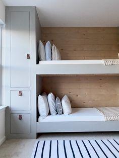 Built In Bunkbeds, Girls Bedroom, Bedroom Decor, Custom Bunk Beds, Custom Shelving, Built In Cupboards, Reading Nook, Humble Abode, Better Homes And Gardens