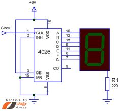 Here is a Simple 4026 Manual Digital Counter Circuit with Reset and Pause. This counter circuit applicable for order to count certain events such as people counter, product counter etc. Circuit uses digital counter IC 4026 and 7 segment display. Electronics Components, Diy Electronics, Electronics Projects, Arduino, Electrical Circuit Diagram, Power Supply Circuit, Dc Circuit, Electronic Circuit Projects, Led Projects