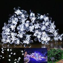 Solar Lamps 4.8M 20LEDs Flower Blossom Decorative Lights Waterproof white fairy Garden Outdoor Christmas solar led light(China (Mainland))