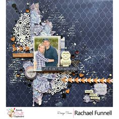 Kaisercraft Misty Mountains Collection is being featured this week on our blog by Rachael Funnell. The final share for this collection is this wonderful layout titled 'Life is better with you'.
