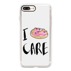 I Donut Care by Liana Kangas - iPhone 7 Case, iPhone 7 Plus Case,... (€37) ❤ liked on Polyvore featuring accessories, tech accessories, iphone case, apple iphone case, iphone cover case, iphone cases and slim iphone case
