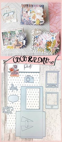 This photo frame cutting die and stamps can be used in so many ways. Use as a regular photo frame or make into a fun shaker card. Coco & Reno cutting dies work with any cutting die machines including sizzix big shot, cricuit cuttlebug, spellbinders, etc. These stamps are perfect for cardmaking, crafting, memory planning, and scrapbooking. #cuttingdies #diecuts #diecuttingmachine #handmadecards #paperlove #papercrafting #sizzixbigshot #cocoandreno #sizzix #diecutting #diecut #stamping Instax Camera, Bullet Journal Art, Shaker Cards, Big Shot, Die Cutting, Paper Crafting, Bujo, Planners, Cardmaking