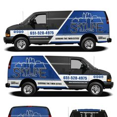 10ef6f970f Create a cool simple eye catching fleet of vehicles for an electrical  contractor by kiky rizki