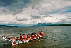 Tlingit Canoe. In the old days the Tlingit made huge canoes that could carry as many as 40 people. They would trade (and raid) down the coast as far as southern California. Today there are annual canoe races during some of the summer festivals. CapitalCityWeekly.com - Southeast Alaska's Online Newspaper