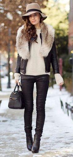 Pretending that's not real fur, what a nice ensemble.