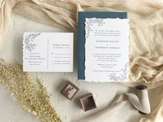 Are you looking for a way to get the handmade paper look, but don't have it in your budget? Try doing a deckle by hand like this on your wedding invitations Wedding Invitation Etiquette, Blue Wedding Invitations, Wedding Stationery, Blue Envelopes, Wow Products, Invitation Design, Wedding Details, Our Wedding, Wedding Planning