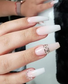 Blush #nude And #whitenails Ombre Nails #ombrenails #ombrenailart #nailart #naildesigns #summernails