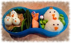 Chicks Themed Bento Lunch - this would be really cute for Easter! #FunFoodFriday