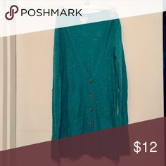 Teal Blue Cardigan Teal Blue Cardigan with buttons and pockets. Mossimo Supply Co. Sweaters Cardigans