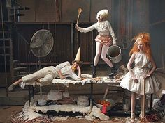 Vogue US December 2009 Hansel and Gretel Photographed by Annie Leibovitz Styled by Grace Coddington Lily Cole, Andrew Garfield, Lady Gaga Grace Coddington, Lily Cole, Lady Gaga, Tim Walker, Phoebe Philo, Fashion Art, Editorial Fashion, Fashion Shoot, Vogue Fashion