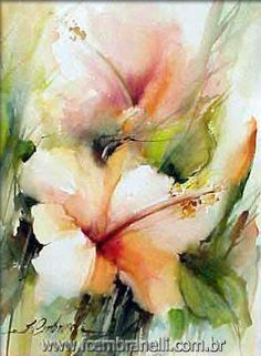Watercolor Demo Fabio Cembranelli demonstrates, step-by-step, the process he uses to create his loose and flowing flowers. The Hibiscus. Watercolor Projects, Watercolor Artists, Watercolor And Ink, Watercolour Painting, Watercolor Flowers, Watercolors, Painting Flowers, Watercolor Portraits, Watercolor Landscape
