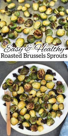 Love restaurant-style roasted Brussels Sprouts? I'm sharing why this popular side dish might not be the best option, and how you can make a delicious, healthier version at home. #BrusselsSprouts #Healthy #RoastedBrusselSprouts Easy Vegetable Side Dishes, Vegetable Recipes, Vegetarian Recipes, Healthy Recipes, Sprout Recipes, Clean Recipes, Brussels Sprouts, Healthy Eating, Food Time