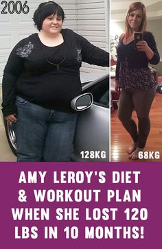 Amy LeRoy's Full Training & Diet Plan For Losing 120lbs In 10 Months!