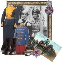 Romanov Regiments by musegal on Polyvore. Olga and Tatiana Romanov in their regimental uniforms.