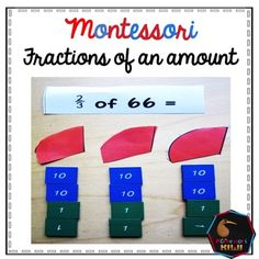 A Montessori Elementary Math material to help students of 6-12 classrooms work out fractions of an amount. Using the stamp game material the child works out fractions for halvesthirdsquartersEquation cards are included along with comprehensive teacher instructions.
