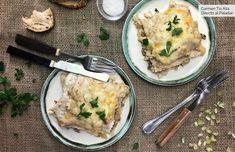 Lasaña de boletus: receta de cocina fácil, sencilla y deliciosa Deli, Pasta Recipes, Mashed Potatoes, Veggies, Dishes, Cooking, Ethnic Recipes, Food, Brownies