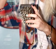 stud spike iphone case