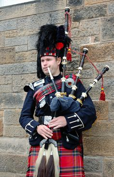 bagpipes | Man playing bagpipes. They look an awful lot like half an octopus to ...