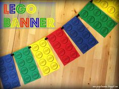 Project: Mommie: A LEGO Banner (lego black outlines that you print on colored paper)