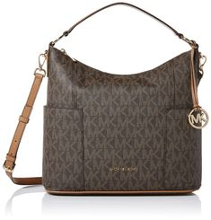 online shopping for Michael Kors Anita Signature Large Convertible Women's Handbag Brown/Acorn from top store. See new offer for Michael Kors Anita Signature Large Convertible Women's Handbag Brown/Acorn Handbags On Sale, Tote Handbags, Brown Handbags, Fashion Handbags, Satchel Purse, Crossbody Bag, Cross Body Satchel, Best Purses, Burberry Women