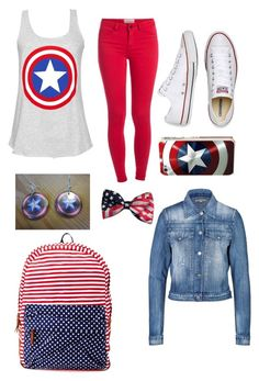 captin america by lildumplin on Polyvore featuring polyvore, fashion, style, Citizens of Humanity, Pieces, Converse, Charlotte Russe and Samsung