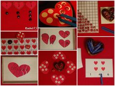"A few free printables suitable to link with Valentine's Day or heart activities - from Rachel ("",)"