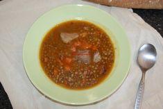 La cocina de mi abuelo: Receta: Lentejas con chorizo y jamón