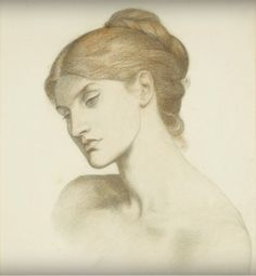 File:Dante Gabriel Rossetti - Lady Lilith - Study for the Head. Dante Gabriel Rossetti, Chalk Drawings, Art Drawings, Pre Raphaelite Brotherhood, Birmingham Museum, Museum Art Gallery, Portrait Sketches, Online Art Gallery, Blog