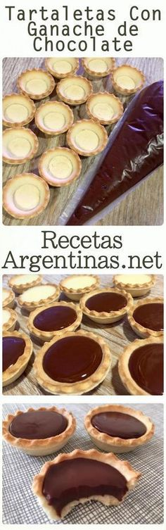Tartlets with chocolate ganache - Pastry World Mini Cakes, Cupcake Cakes, Mini Desserts, Dessert Recipes, Comida Diy, Diy Food, Oreo, Love Food, Sweet Recipes