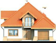 DOM.PL™ - Projekt domu DN Xara CE - DOM PC1-21 - gotowy koszt budowy Sims House Plans, Family House Plans, Dream House Plans, Home Building Design, Building A House, Two Story House Design, Kerala House Design, Kerala Houses, Beautiful Home Designs