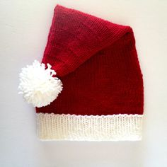 ***A Knitting by Kali bestseller! *** These Santa hats help you celebrate the holidays while staying warm! Perfect for wearing to the Santa Claus parade, or replacing your winter hat during those upcoming festive months. Can be used as a prop when taking your Christmas card photo, or