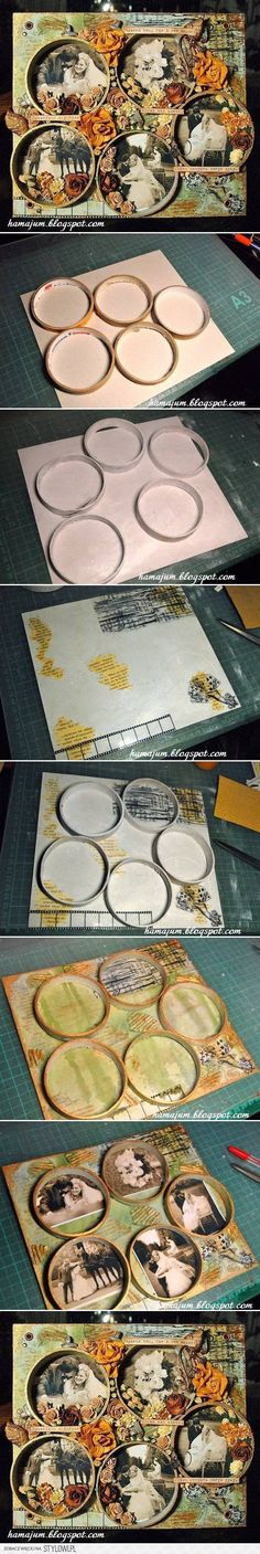 DIY Tape Reel Picture Frame DIY Projects | UsefulDIY.co…