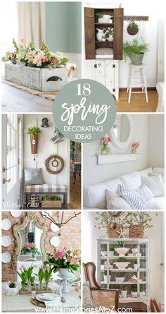 18 spring decor ideas - Mantel Der Ideen Frhling Verziert