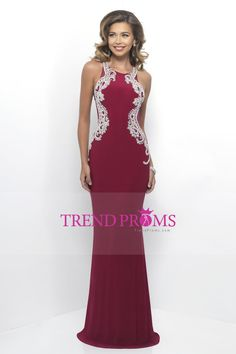 2017 Prom Dresses Scoop Open Back Spandex With Beading Floor Length